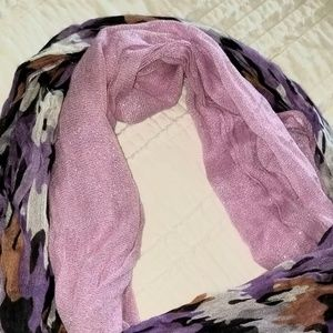 Set of two raw edge scarves